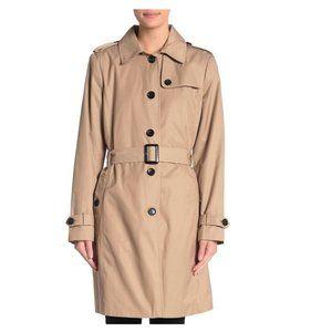 DKNY Spread Collar Trench Coat